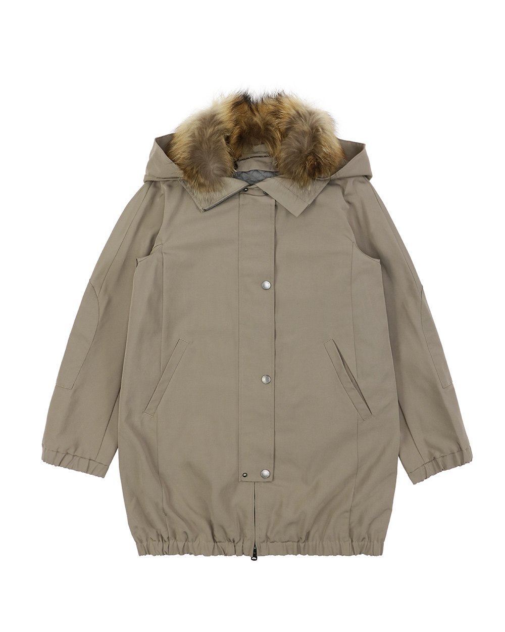 Single-Breasted Mid-Length Trench Coat