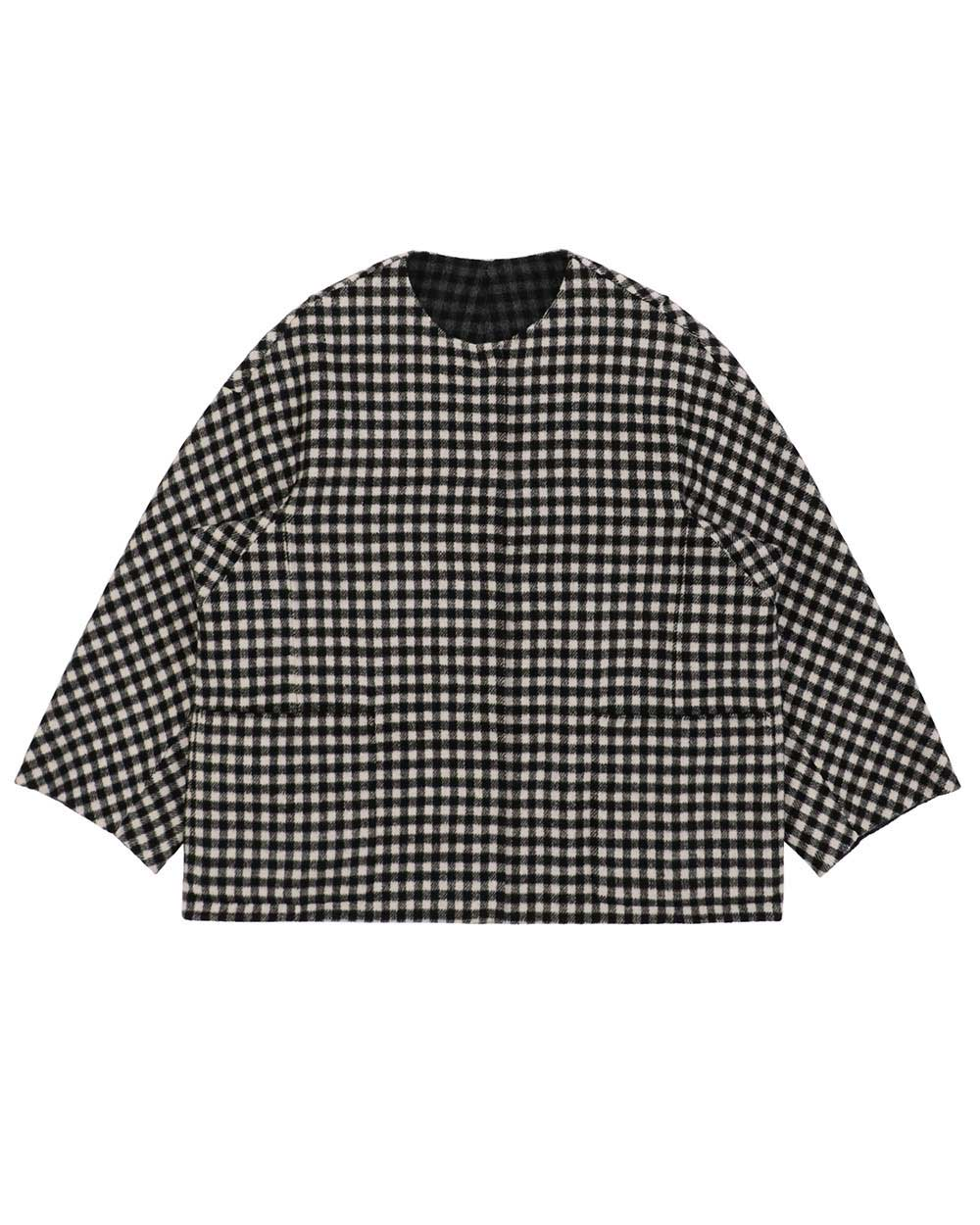 Wool Check Coat