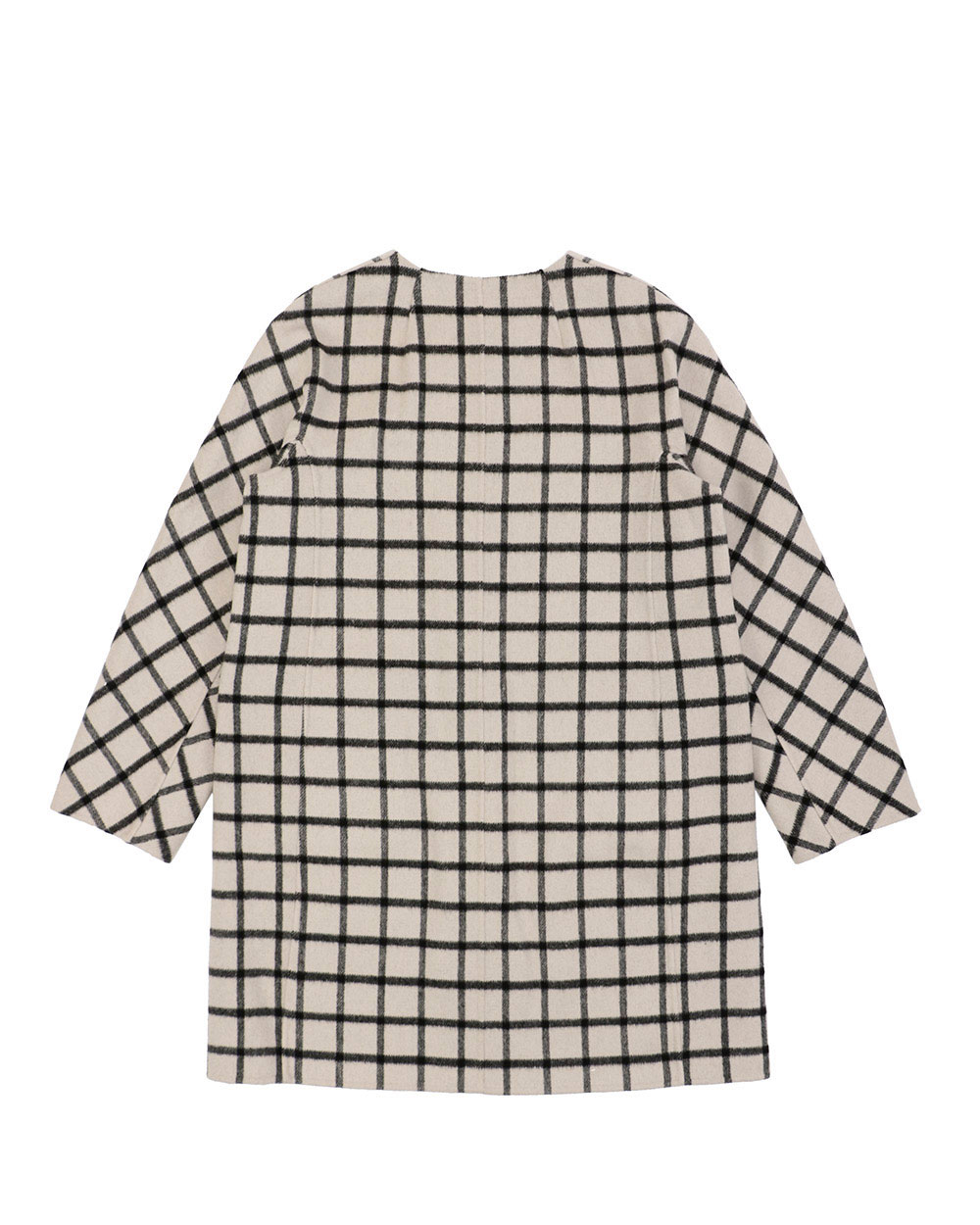 Plaid Mid-Length Trench Coat 1