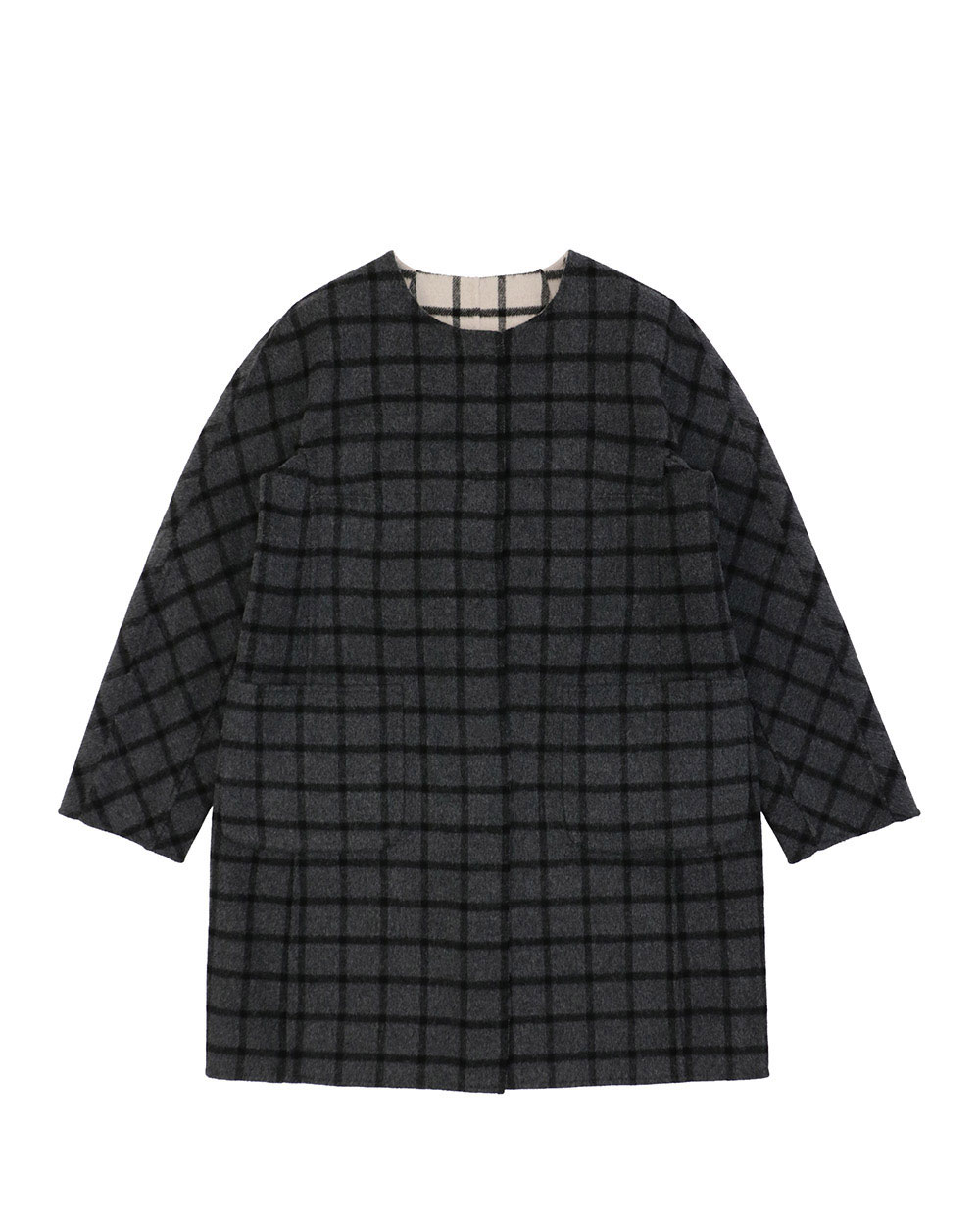 Plaid Mid-Length Trench Coat 2