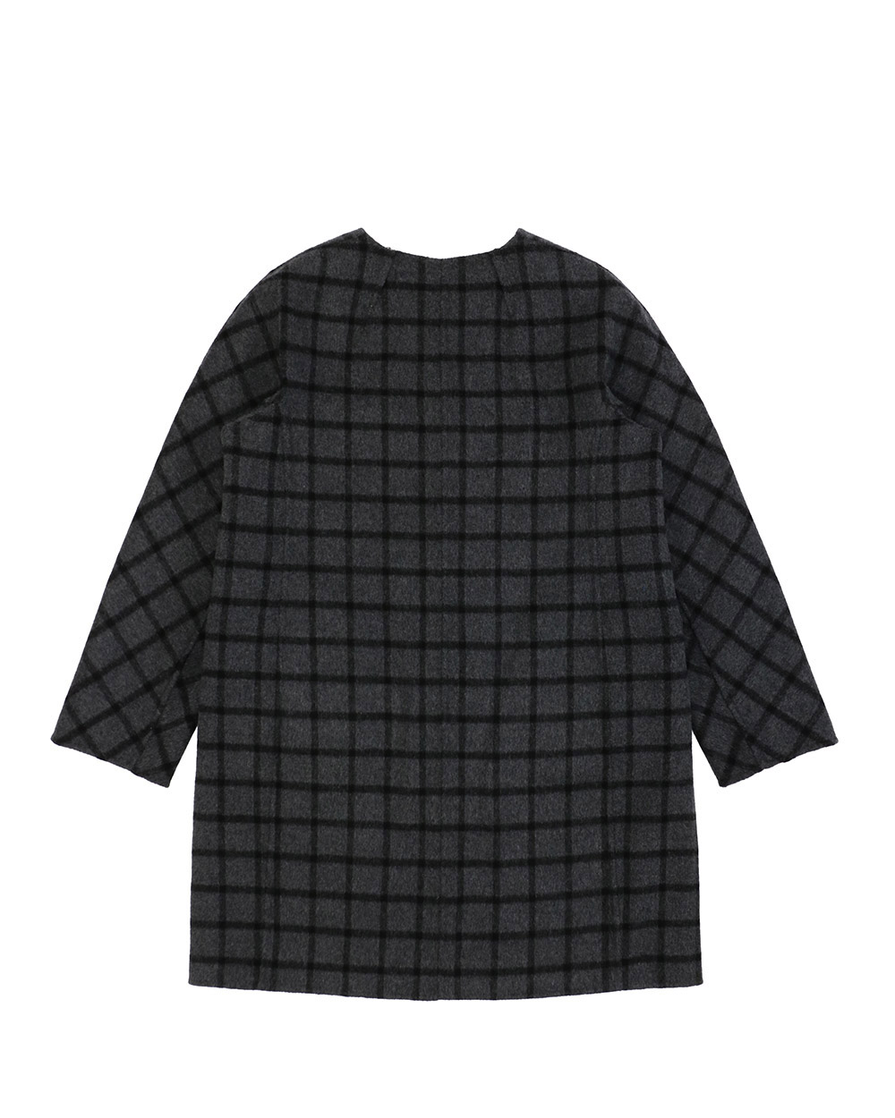 Plaid Mid-Length Trench Coat 3