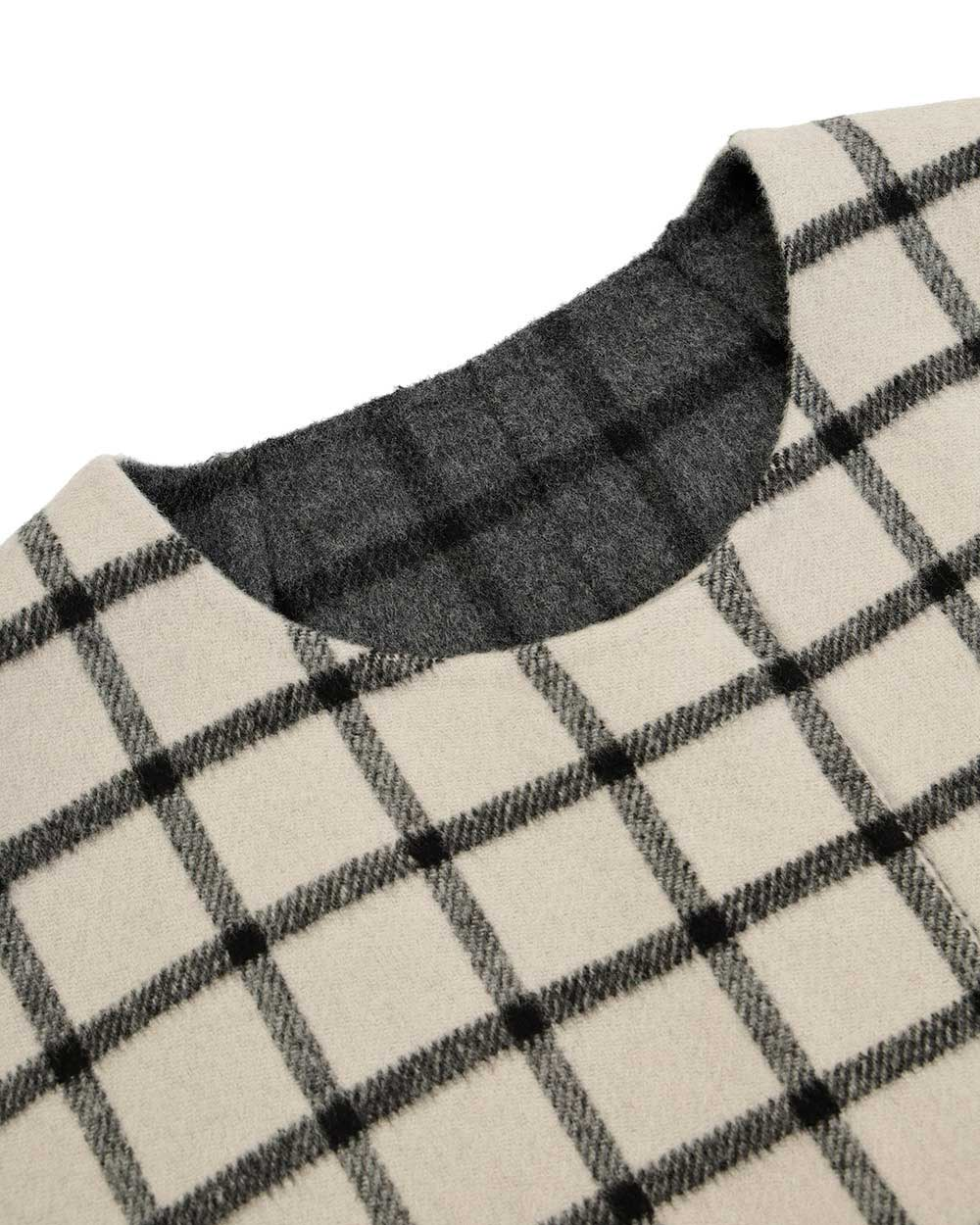 Plaid Mid-Length Trench Coat 5