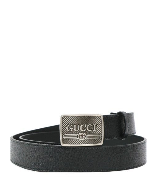 Leather Metal LOGO Buckle Leather Belt