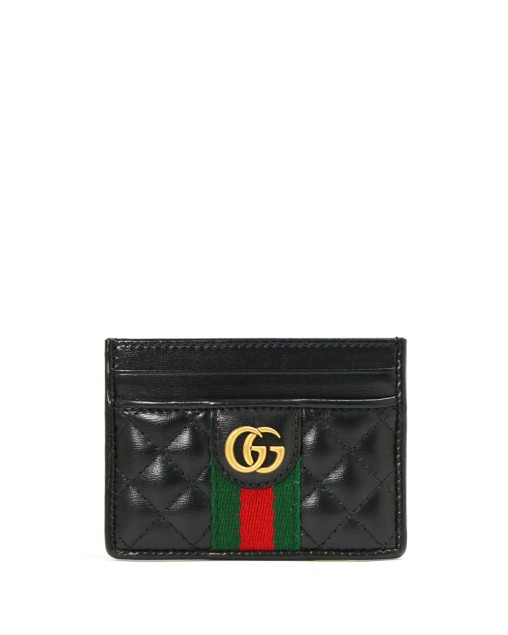 Plain GG Leather Card Case