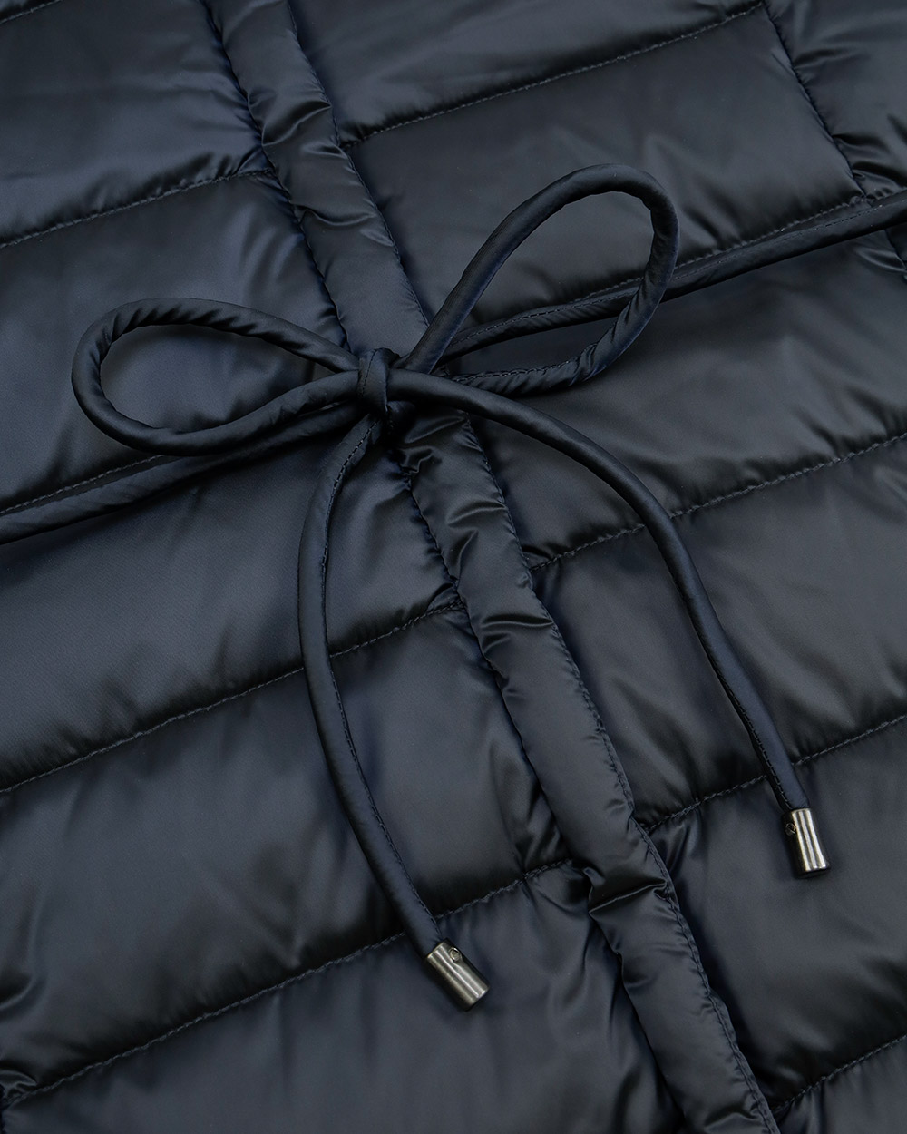 Mid-Length Striped Down Jacket 5