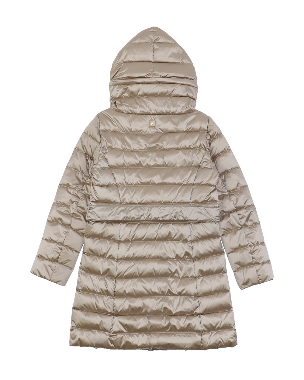 Mid-Length Striped Down Jacket 1