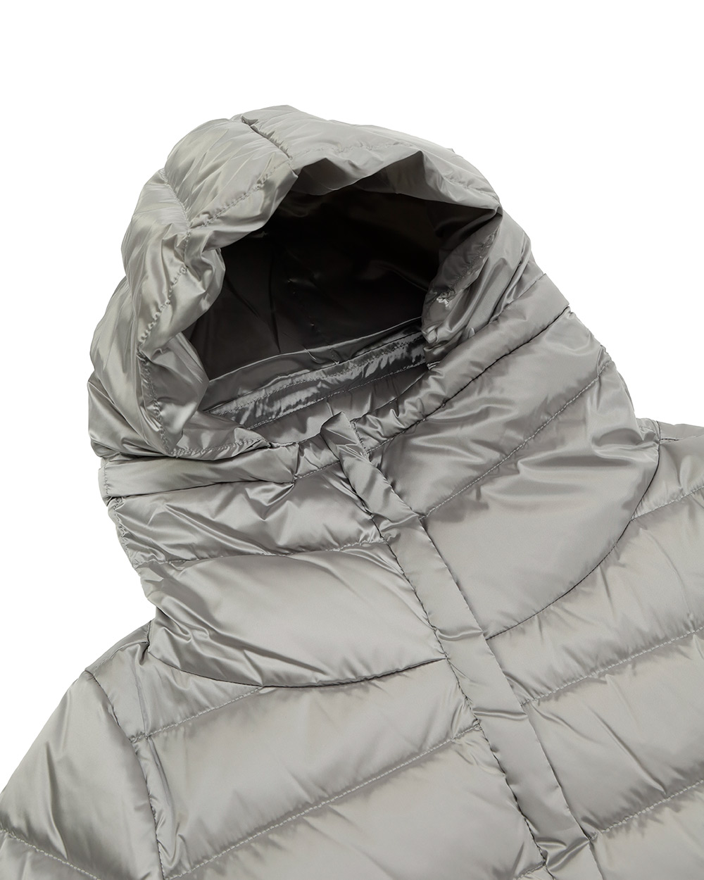 Mid-Length Striped Down Jacket 4