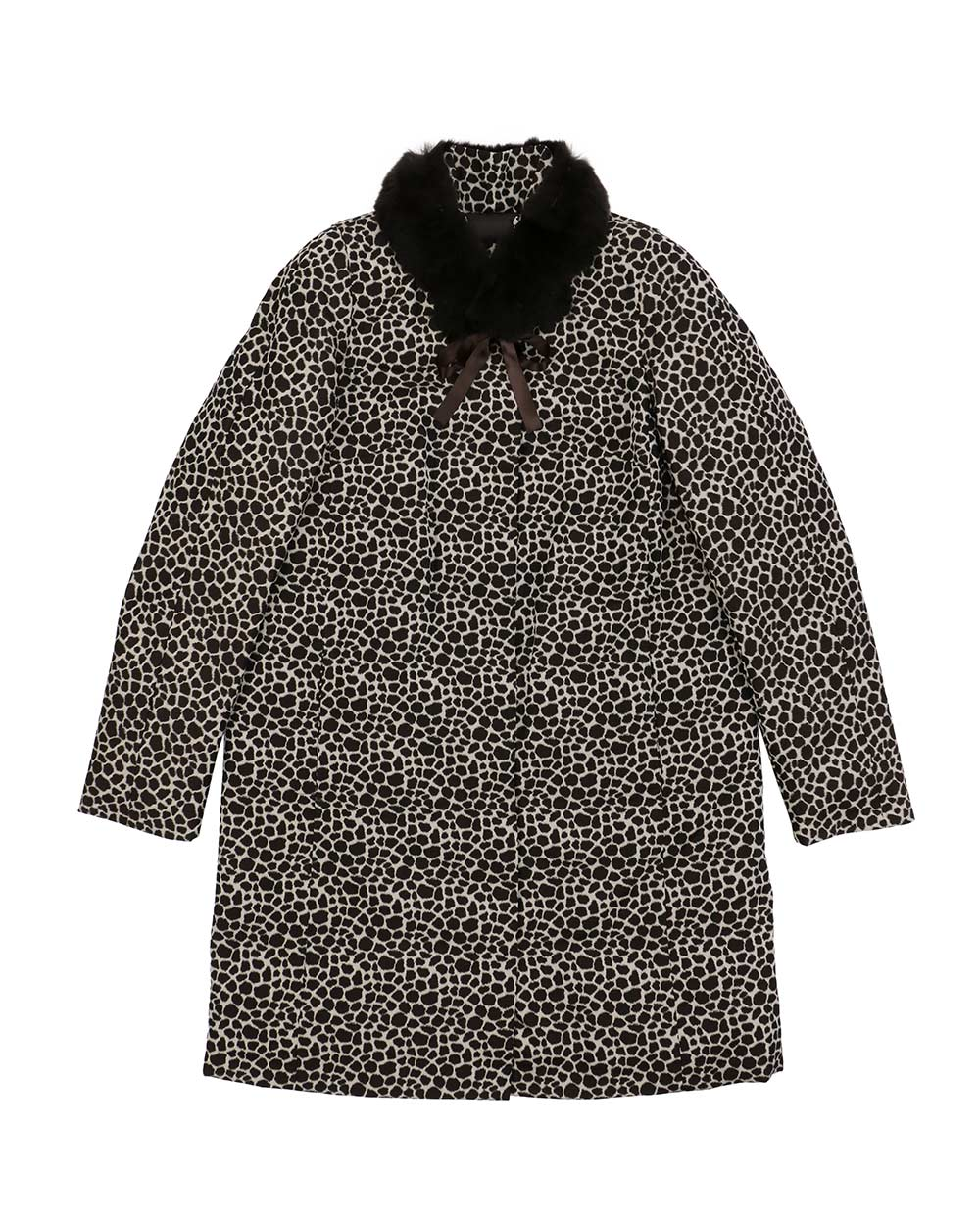 Leopard Printed Mid-Length Trench Coat