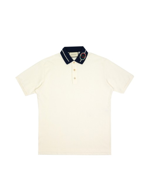Polo Shirt with Interlocking Double G Strap