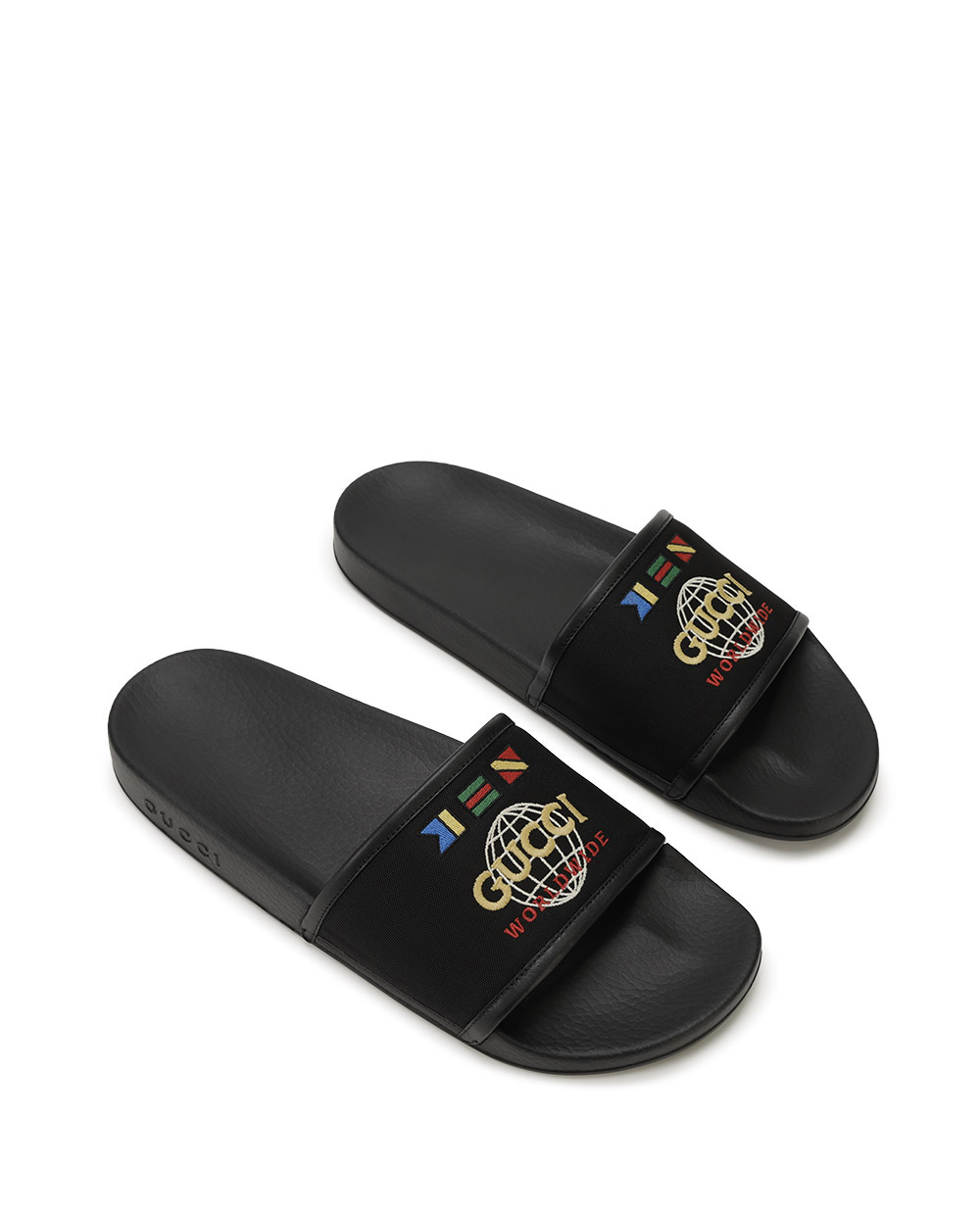 Logo Embroidered Sandals 1