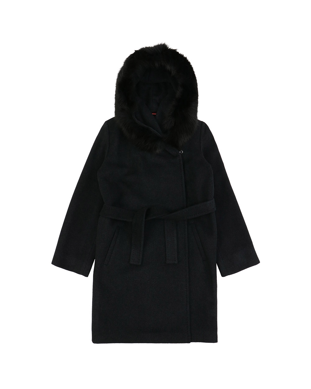 Single-Breasted Mid-Length Hooded Trench Coat