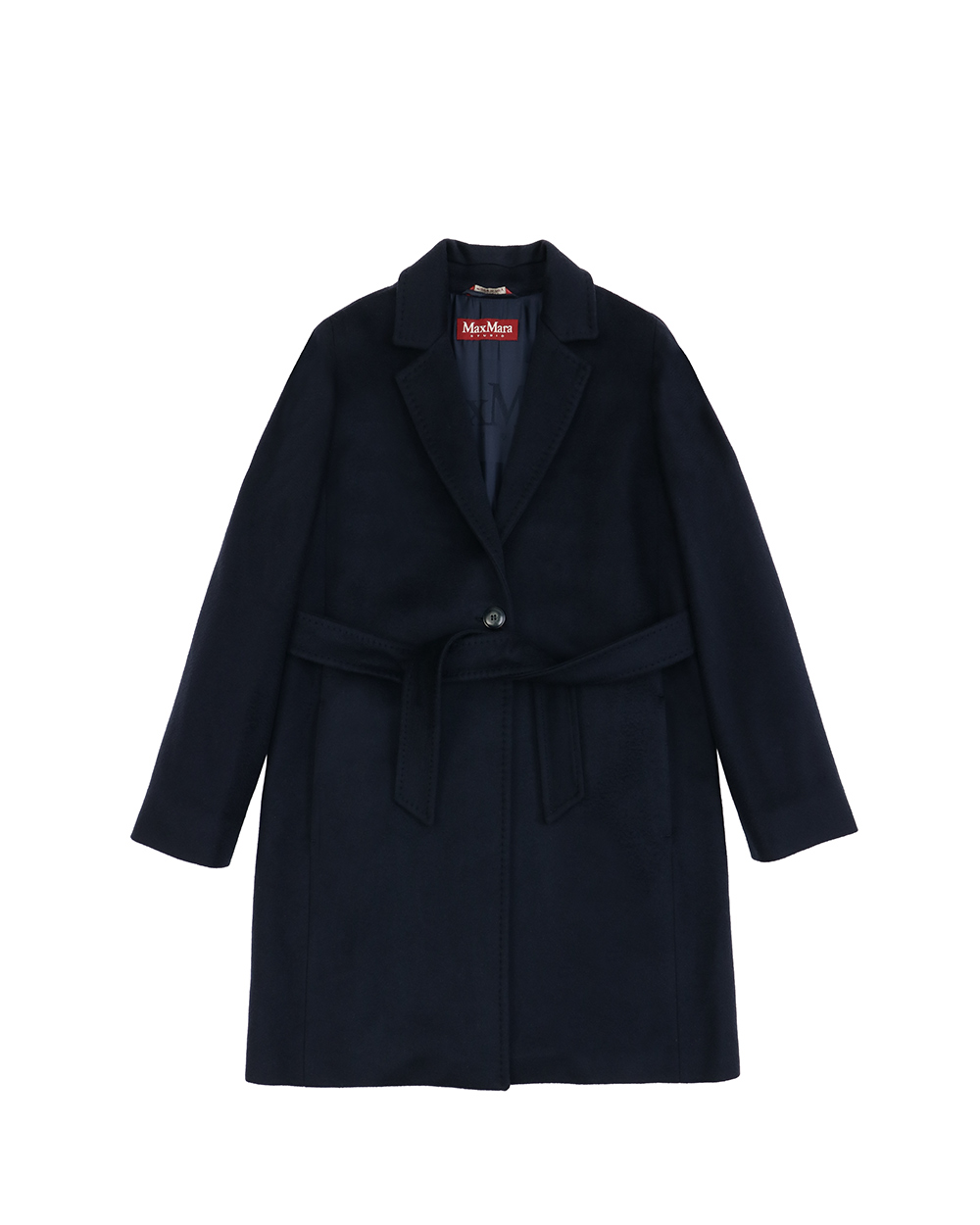 Mid-Length Wool Trench Coat