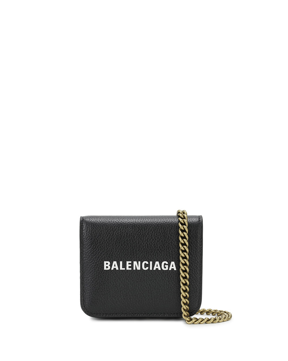 Logo Chain Leather Wallet
