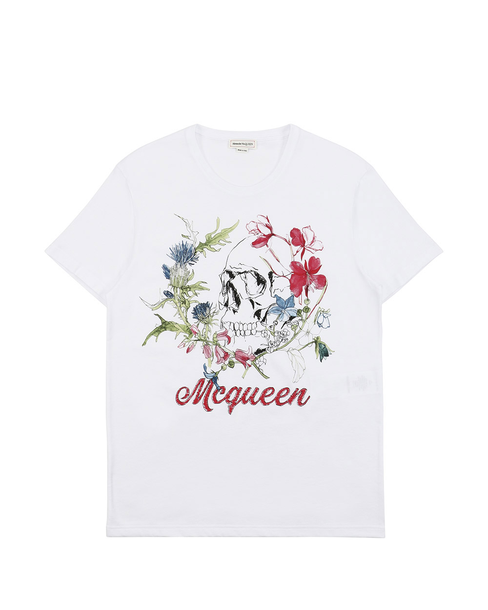 Printed Round Neck Short-Sleeves T-Shirt