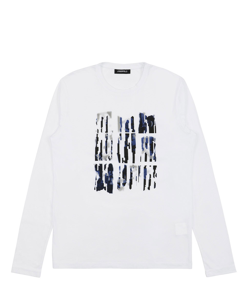 Printed Round Neck Long-Sleeves T-shirt