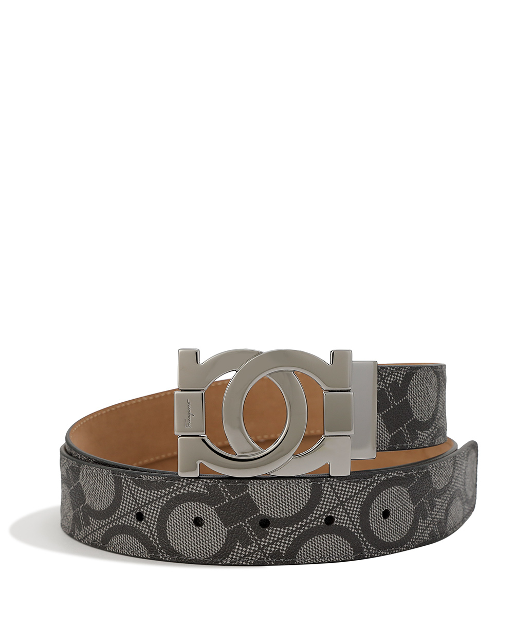 Logo Metal Buckle Pattern Belt