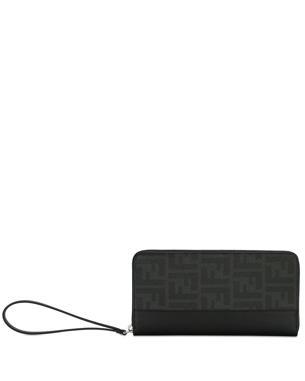 Zucca FF Leather Long Wallet