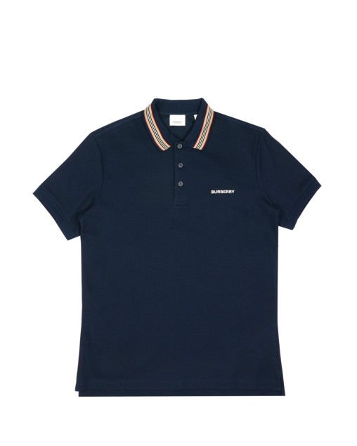 Icon Stripe Detail Cotton Piqué Polo Shirt