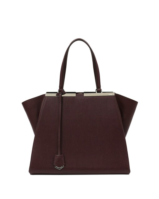 Plain color Leather Shoulder Bag