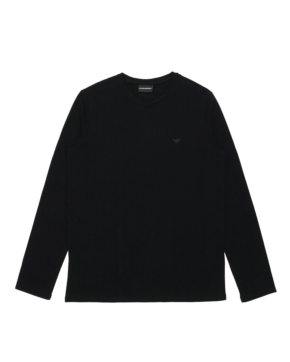 Cotton Long-Sleeved Round Neck T-Shirt