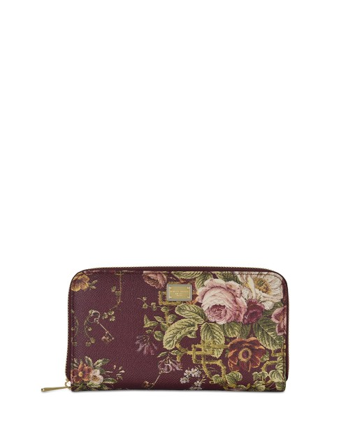Flower Leather Long Wallet