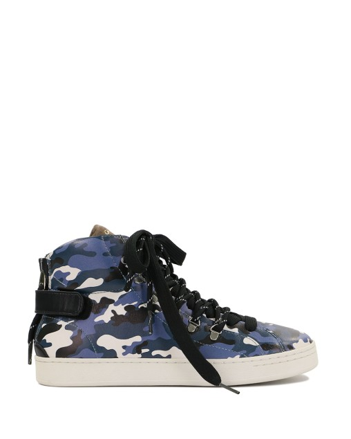High-Top Camouflage Printed Sneakers