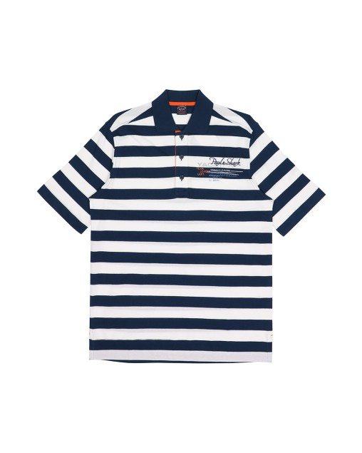 Stripe Cotton Polo Shirt