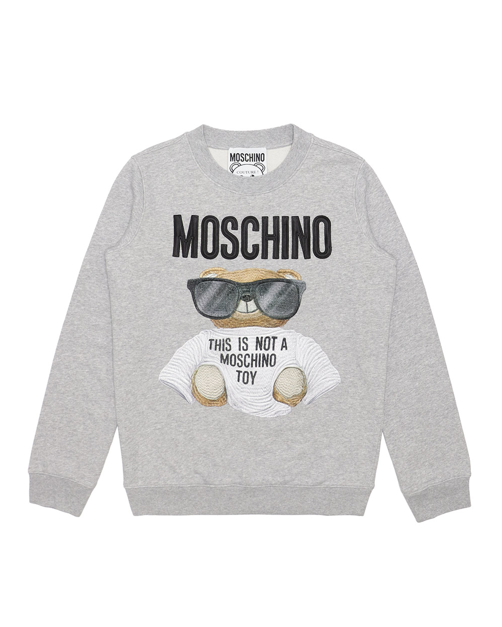 Cotton Long-Sleeved Printed Sweater