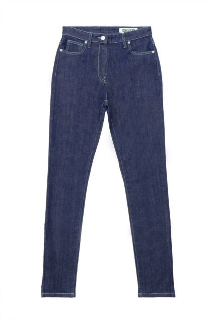 Contrasting Stitching Skinny Jeans