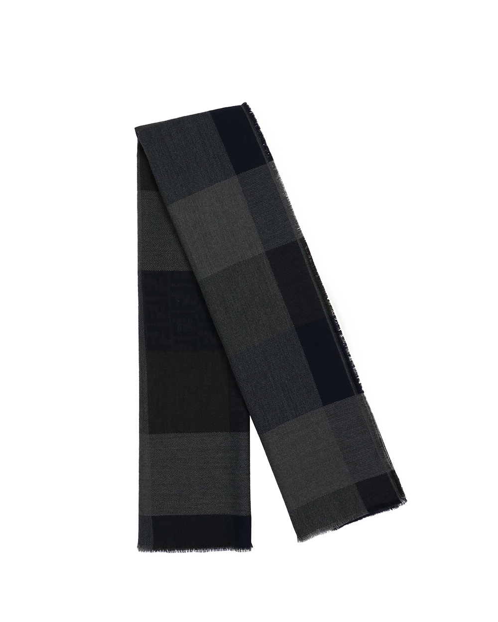 Check Pattern Wool Scarf