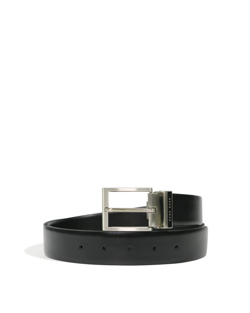 LOGO Buckle Matte Leather Belt
