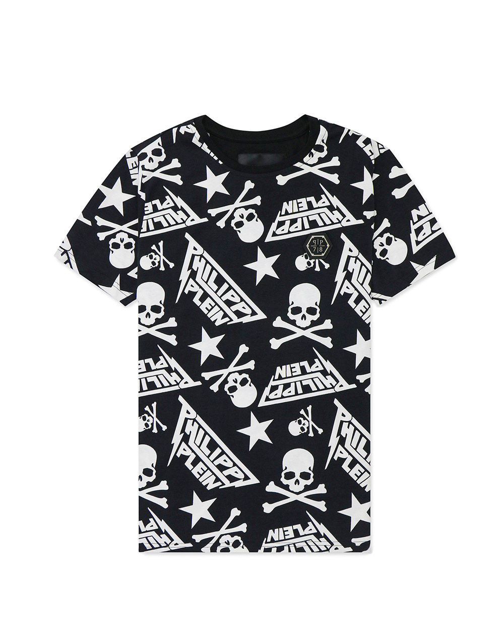 Print Round Neck Short Sleeves T-Shirt