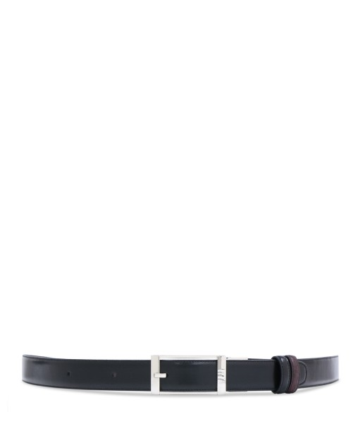 Black Leather Pin Buckle Belt
