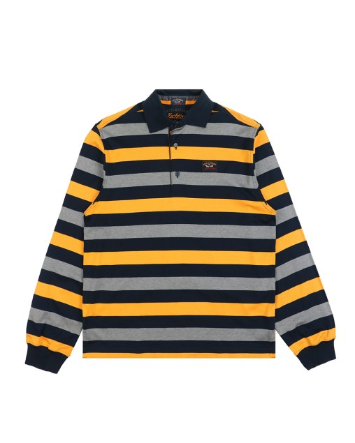 Classic Embroidered Striped Long Sleeve T-Shirt