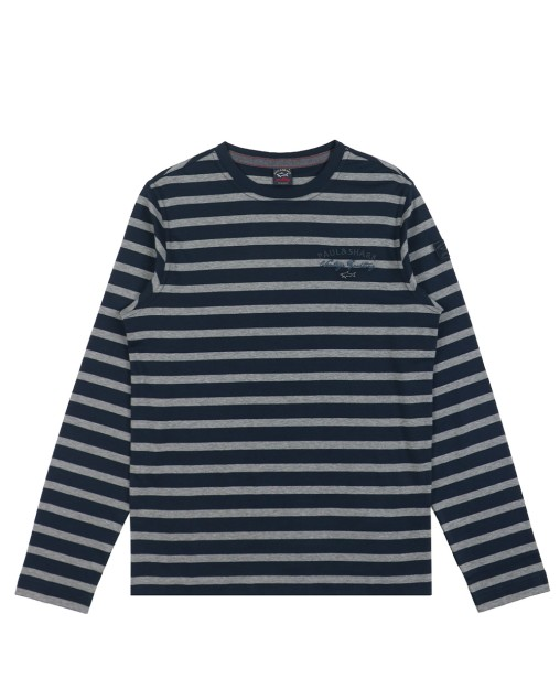 Long Sleeves Stripe Cotton T-Shirt
