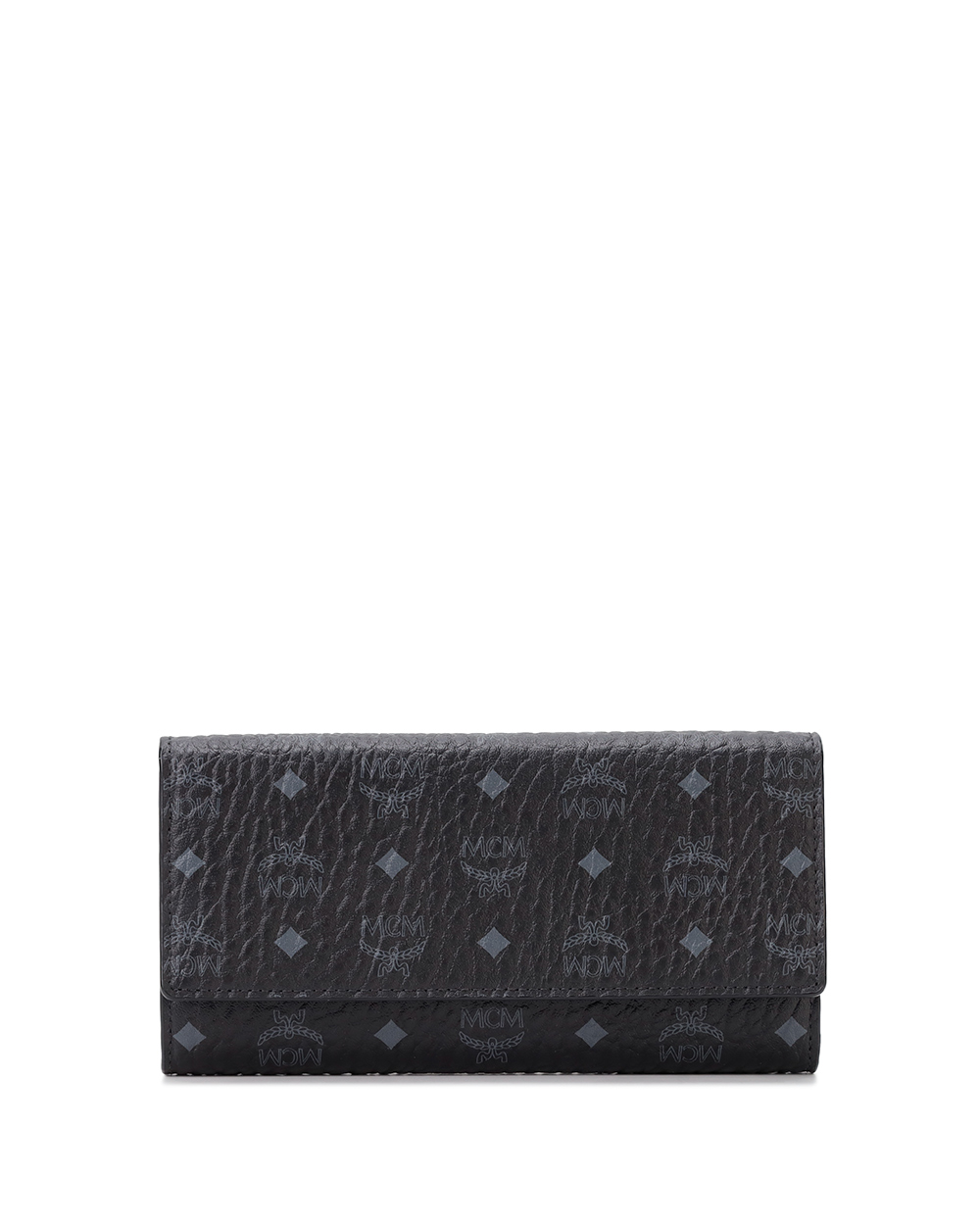 Leather Long Button Wallet