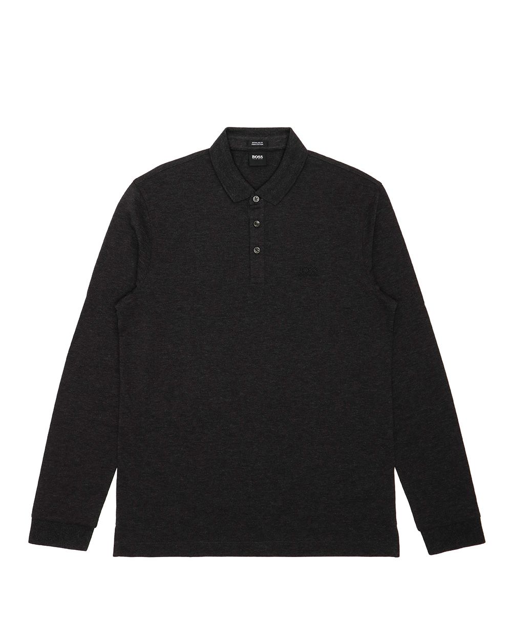 Cotton Long Sleeve Polo Shirt
