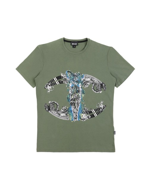 Printed Crew Neck Short Sleeves T-Shirt