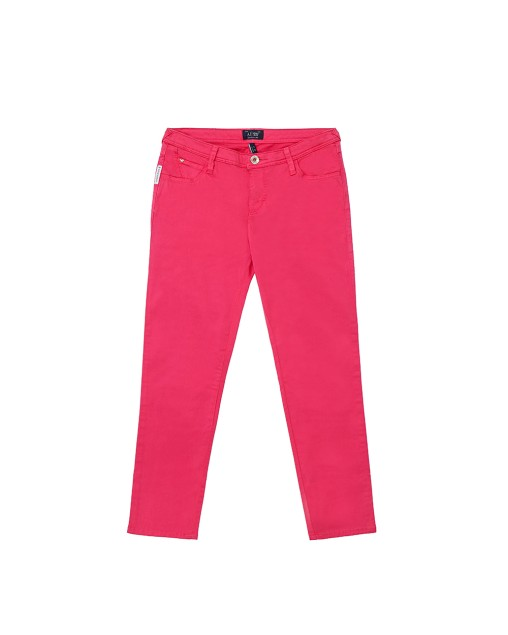 Stretch Cotton Capri Jeans