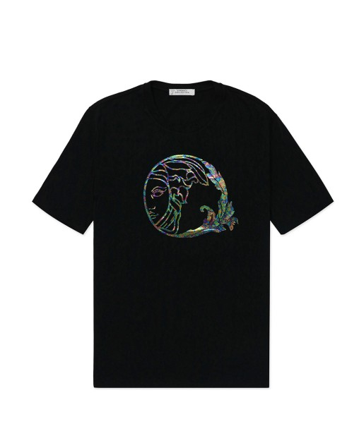Half-face Medusa Round Neck Short Sleeves T-Shirt
