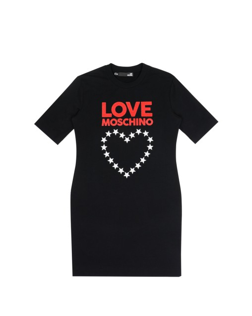 Love Moschino Cotton Dress WIth Heart and Logo