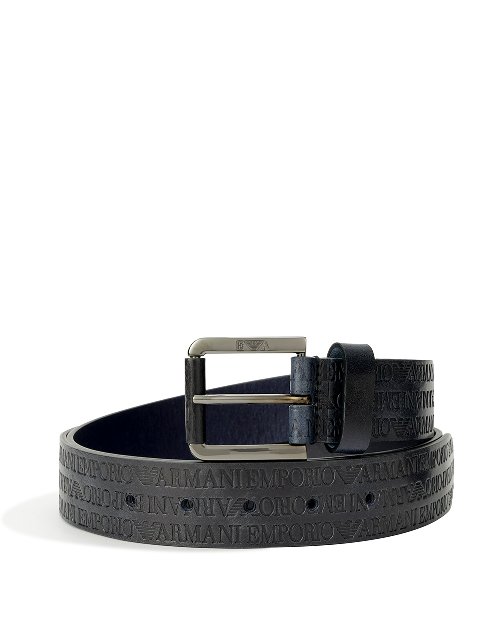 LOGO Printed Leather Pin Buckle Be