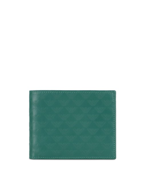 Eagle Logo Printed Leather Wallet