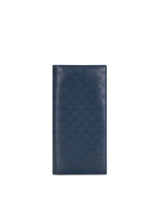 Logo Pattern Leather Long Wallet