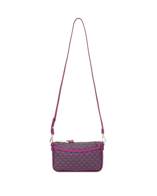 PVC Mixed Leather Shoulder Bag