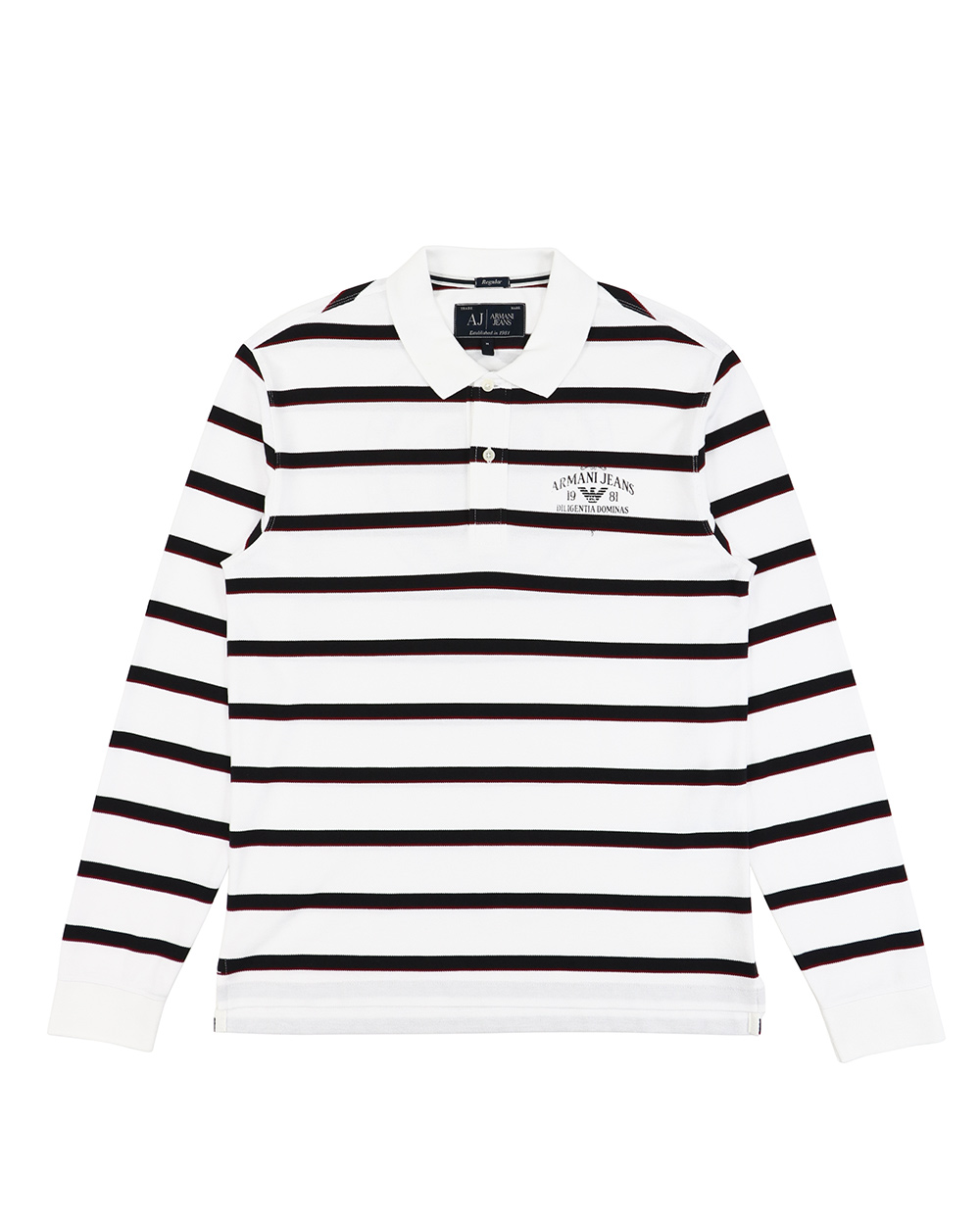 Cotton Striped Printed Short Long Sleeves Polo Shirt
