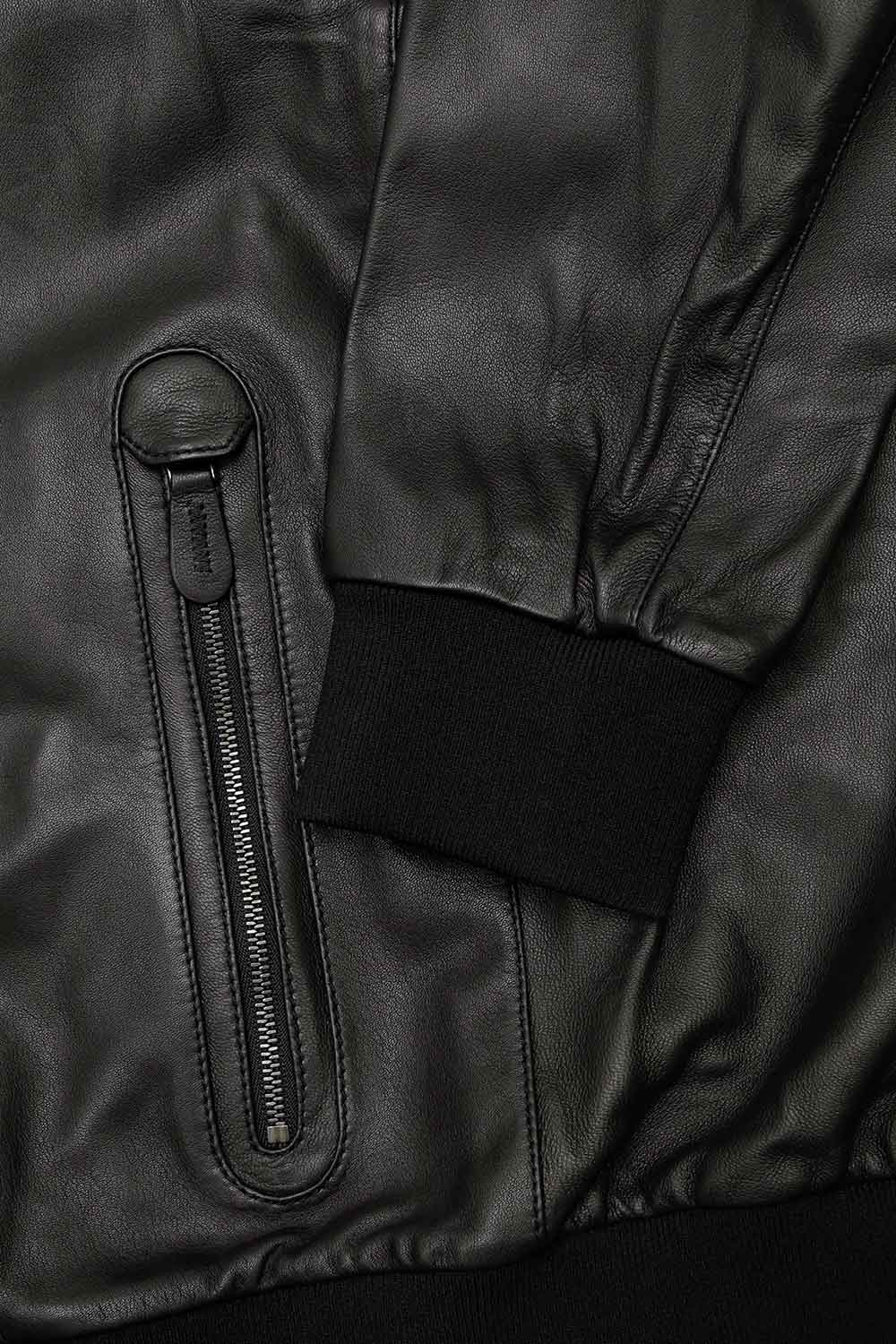 Leather Bomber Jacket 3