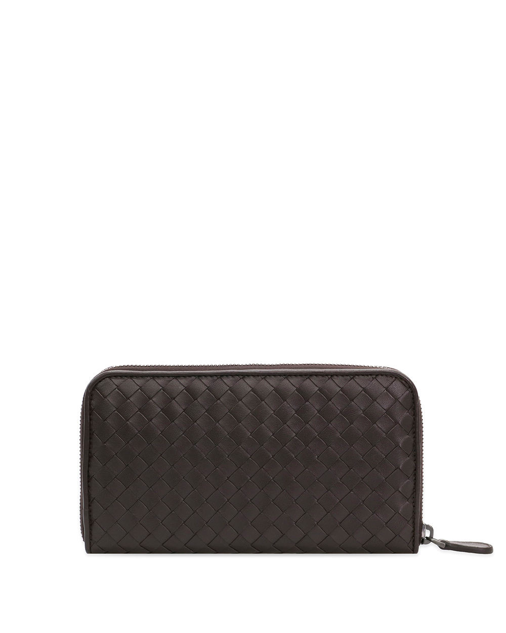 Woven Lamb Leather Zip Wallet 2