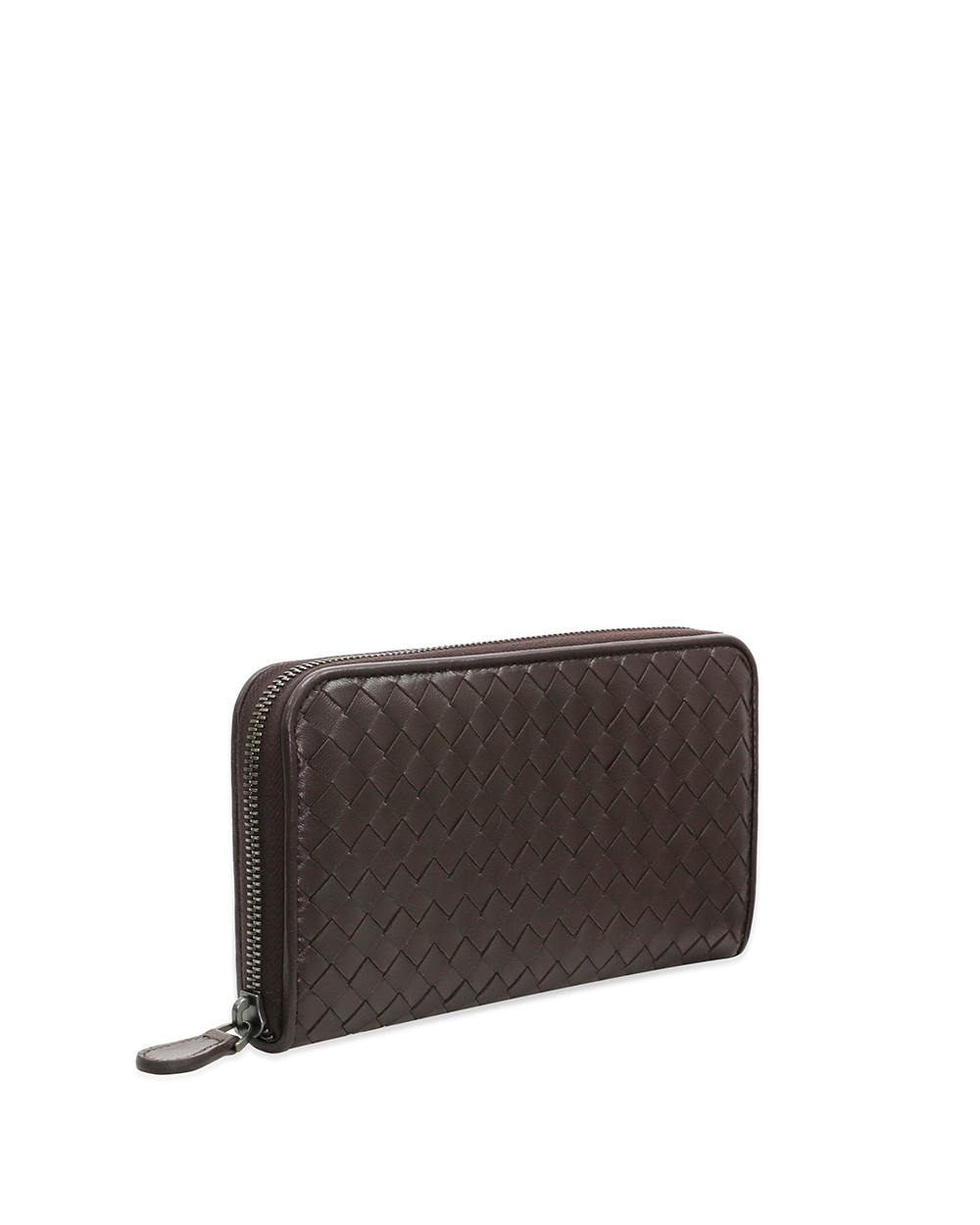 Woven Lamb Leather Zip Wallet 3