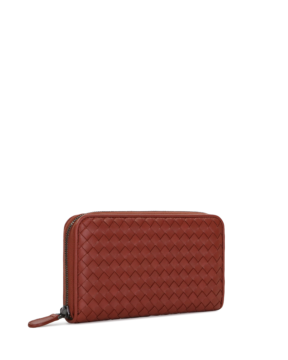 New Sauge Intrecciato Leather Zip Around Wallet 3